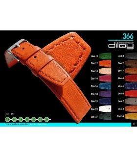 Correa de piel para reloj Diloy 366
