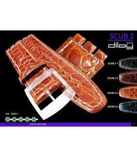 Correa de piel para repuesto reloj Swatch, Diloy Scub2