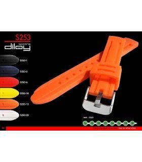 Correa de silicona para reloj, Diloy S253