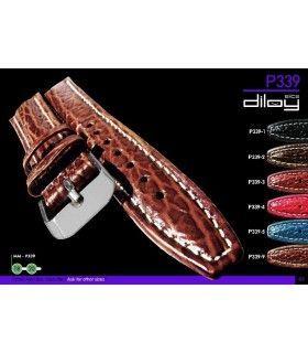 Correa de piel para reloj, Diloy P339