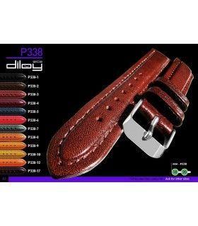 Correa de piel para reloj, Diloy P338