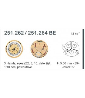 Máquina o movimiento para reloj ETA 251.262
