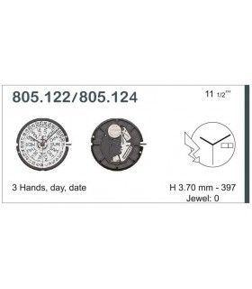 Máquina o movimiento para reloj ETA 805.124