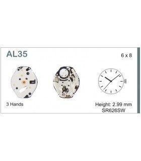 Máquina o movimiento para reloj HATTORI AL35