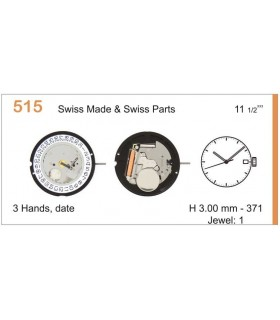 Máquina o movimiento para reloj RONDA 515