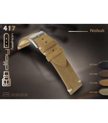 Correas de Reloj de Piel Nobuk. Ref. 417