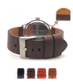 Correa de reloj de piel vintage para reloj Diloy 383