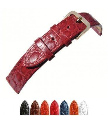 Correas de reloj de piel grabado cocodrilo. Ref. P209